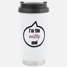 I'm the witty one! Stainless Steel Travel Mug