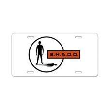 S.H.A.D.O. Aluminum License Plate