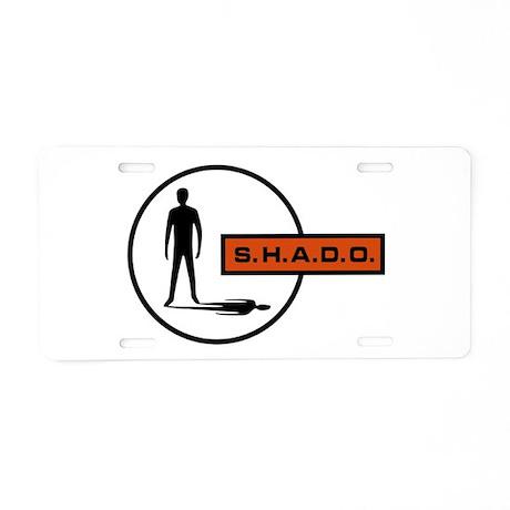 S.H.A.D.O. Aluminum License Plate