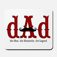Mustache Dad Mousepad