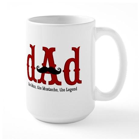 Mustache Dad Large Mug