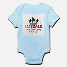 Illegals, Thirsty Illegals -  Infant Creeper