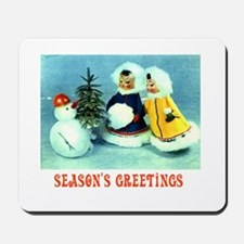 Kitschy Greetings - Season's Greetings Mousepad