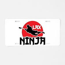 Lacrosse Ninja Aluminum License Plate
