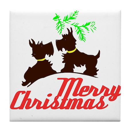 Merry Christmas Scotty Dogs - Kitschy Christmas Ti