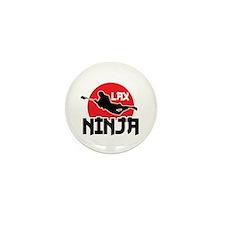 Lacrosse Ninja Mini Button (10 pack)
