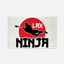 Lacrosse Ninja Rectangle Magnet