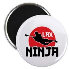Lacrosse Ninja Magnet