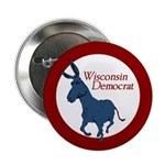 Wisconsin Democrat activist button