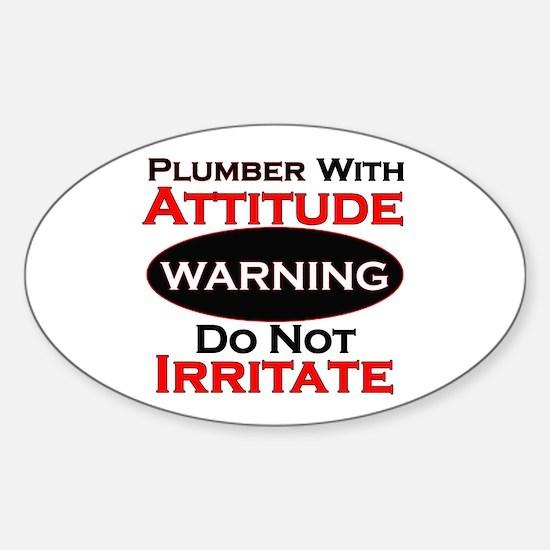 Cute Plumber Sticker (Oval)