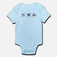 Peace, Love and Finland Infant Bodysuit