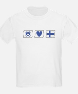 Peace, Love and Finland T-Shirt