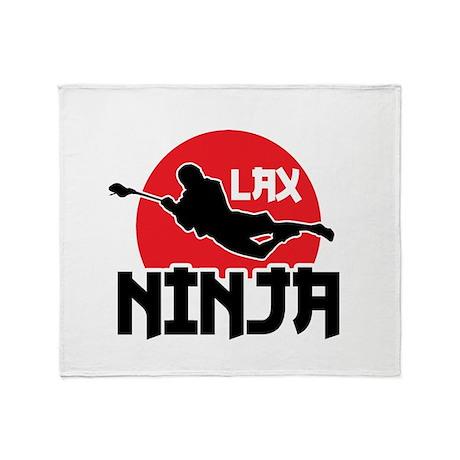 Lacrosse Ninja Throw Blanket