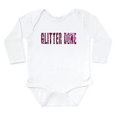 Glitter Done V Long Sleeve Infant Bodysuit