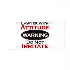 Cute Lawyer Aluminum License Plate