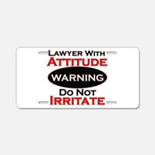 Unique Lawyer Aluminum License Plate