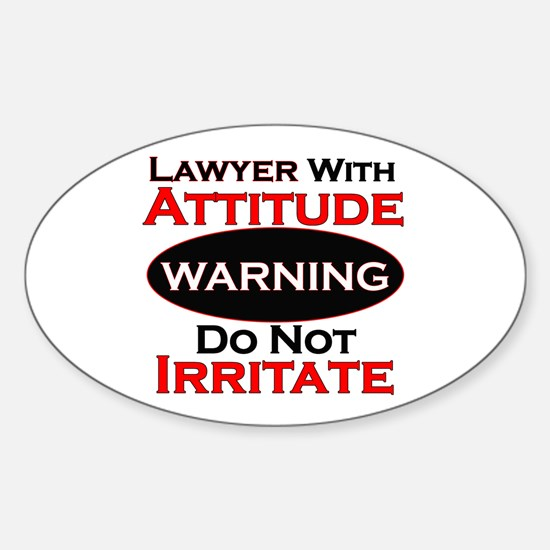 Attitude lawyer Decal