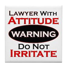 Unique Funny lawyer Tile Coaster