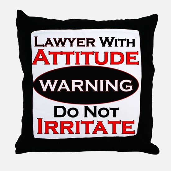 Unique Lawyer Throw Pillow