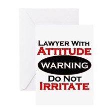 Cute Funny lawyer Greeting Card