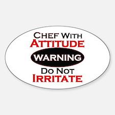 Cute Chefs Sticker (Oval)