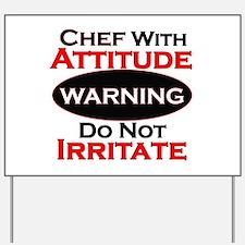 Cute Chef Yard Sign