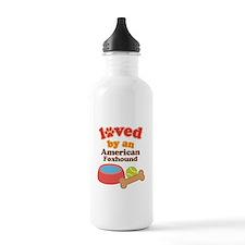 American Foxhound Dog Gift Water Bottle
