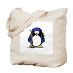 Hockey Penguin Tote Bag