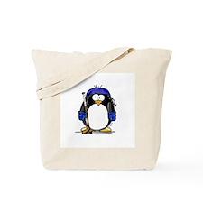 Hockey Penguin Tote Bag