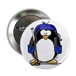 Hockey Penguin Button