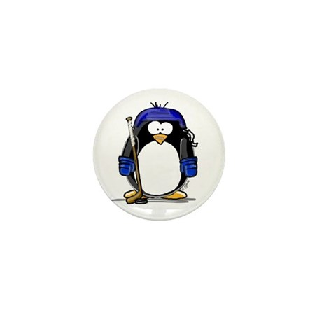 Hockey Penguin Mini Button