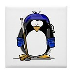 Hockey Penguin Tile Coaster