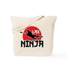 Lacrosse Ninja Tote Bag