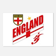 England World cup Soccer Postcards (Package of 8)