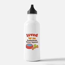 American Water Spaniel Dog Gift Water Bottle