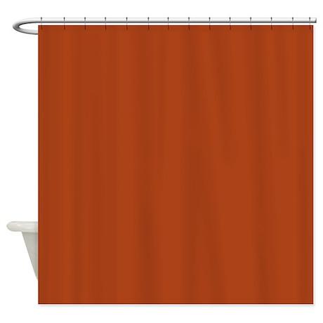 4 seasons autumn plain rust shower curtain by floatinglemons