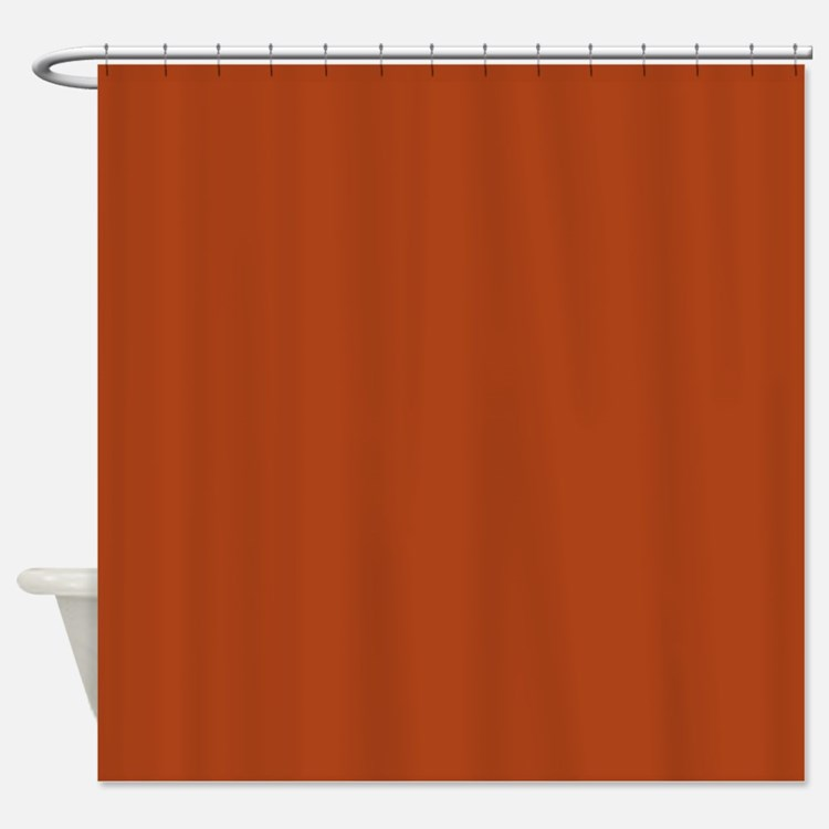 4 Seasons Autumn plain rust Shower Curtain