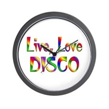 Live Love Disco Wall Clock