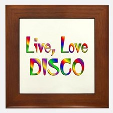 Live Love Disco Framed Tile