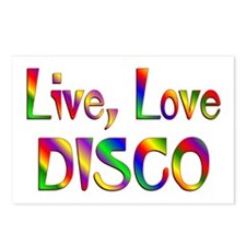 Live Love Disco Postcards (Package of 8)