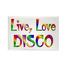 Live Love Disco Rectangle Magnet (10 pack)