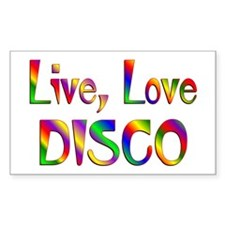 Live Love Disco Decal
