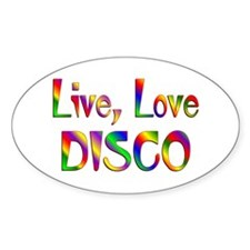 Live Love Disco Decal