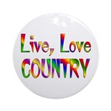 Country music Round Ornaments