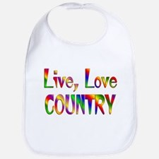 Live Love Country Bib