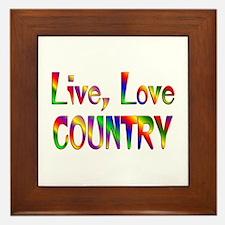 Live Love Country Framed Tile