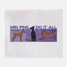 Min Pins Do It All Throw Blanket
