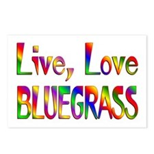 Live Love Bluegrass Postcards (Package of 8)