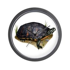 Florida Red-Bellied Turtle Wall Clock