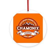Chamonix Tangerine Ornament (Round)